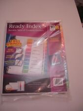 New Listingavery 11188 Ready Index Table Of Contents 10 Tab Dividers 6 Sets Of 10 Tabs