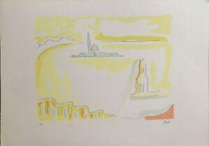 Virgilio Guidi serigrafia San Giorgio 1983  70x50 firmata numerata