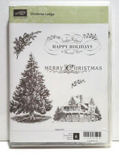 Stampin Up Christmas Lodge RETIRED. Christmas tree Merry Christmas Cardinals
