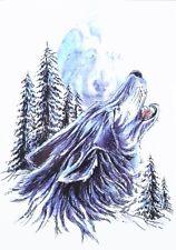 Temporary Tattoo Fake Tattoo  Lone Wolf Heulender Wolf Tier wasserfest (HB-231)
