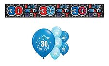 30th BIRTHDAY PARTY PACK DECORATIONS BANNER BALLOONS (SE.B.1)