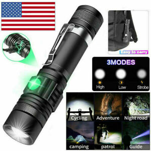 Super Bright 90000LM LED Tactical Flashlight Zoomable With Rechargeable Battery