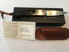 Custom William Henry Ironwood/Titanium Folder Folding Knife