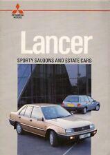 Mitsubishi Lancer 1986-88 UK Market Sales Brochure Saloon Estate 1500 GLX 1800 D