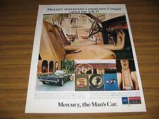 1967 Vintage Ad Mercury Cougar XR-7 Cars Powerful V-8 Engines