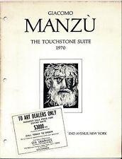 Giacomo Manzú Catalogs: A. Lubin,1970, Lumley Cazalet,1969, Hanover Gallery,1965