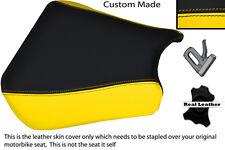 Noir & Jaune 00-01 custom fits honda cbr 900 coureur devant housse siège en cuir
