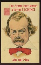 Political David Lloyd George satire Health stamp licking 1912 PPC UNUSED ref2