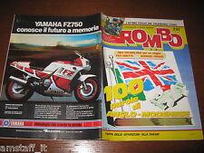 RIVISTA ROMBO 1987/3=PARIGI-DAKAR=FIAT DUNA=POSTER CALENDARIO AYRTON SENNA=