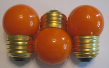 3 Ceramic Orange Marquee/Sign/Amusement Park/Party/Patio/String Light Bulbs E26
