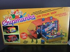 Vtg 1983 Ideal Alvin & The Chipmunks On Tour Van Traveling Playset & Box