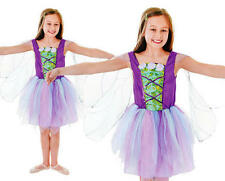 Childrens Kids Fairy Princess Fancy Dress Costume & Wings Girls Outfit M