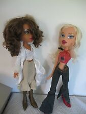 "BIG BRATZ DOLLS (2) YASMIN CLOE 24"" 2 FEET TALL WITH SHOES CLOTHING SUPER SIZE"