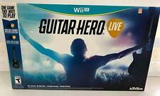 (LUP) Guitar Hero Live Bundle (Nintendo Wii U, 2015)