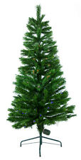 8' Ft Green Artificial Holiday Christmas Tree with Fiber Optic Lights & Stand