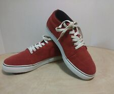 Nike Satire Mid Skateboard Shoes Red White Black - size 10.5