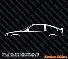 2X Car silhouette stickers - for Honda Ballade CRX classic 1st gen (1983-1987)