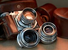 Voigtlander Prominent + Nokton 50mm f/1.5 Rare early version + Skoparon Dynaron