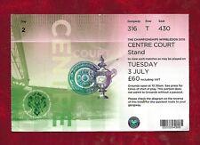 Wimbledon Tennis Championship Centre court ticket 2018 Day 2