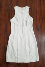 REBECCA TAYLOR Women's White Zipper Dress Size 2