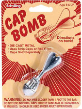 CAP BOMB rocket metal Toy Grenade paper/plastic gun caps BOY STOCKING STUFFER