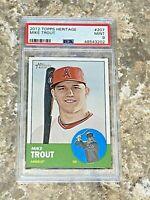 2012 Topps Heritage Mike Trout RC #207 PSA 9 MINT Los Angeles Angels Rookie