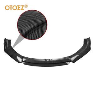 Carbon Fiber Universal Front Bumper Lip Spoiler Splitter Under Panel Diffuser