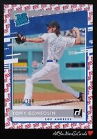 Tony Gonsolin 2020 Donruss Rated Rookie 100 SP 61/100 LA Dodgers Baseball RC#257