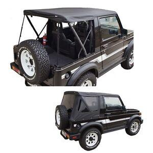 1986-1994 Suzuki Samurai Replacement Soft Top w/ Removable Tinted Windows Black