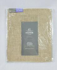 "JCP Home Linen Beige Bayview Rod-Pocket Tailored Valance, 50""x18"""
