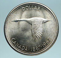 1967 CANADA Confederation Founding OLD Goose Genuine Silver Dollar Coin i83493