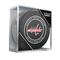 WASHINGTON CAPITALS 2018 STANLEY CUP PLAYOFFS NHL OFFICIAL GAME PUCK w/Cube