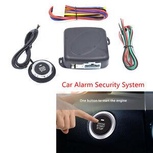 Car Alarm Start Security System Engine Start Keyless Entry Push Button Universal
