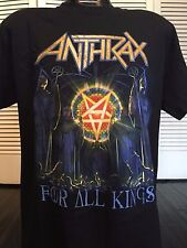 Anthrax 4 All Kings Tour Shirt Sz M/L Thrash Death Metal Slayer Morbid Angel