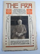 FRA Magazine- Exponent of American Philosophy- December 1911 #3 Thomas Edison