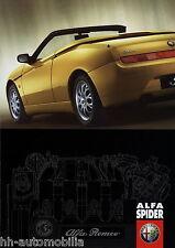 Alfa Romeo Spider Prospekt 1998 4/98 12 Seiten D brochure prospectus catalogus