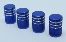 Pack of 4 Aluminium Valve Caps Dust Caps for Schrader Auto Valve Blue