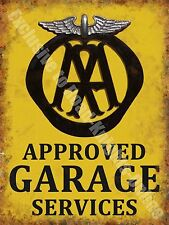 AA Garage Services Vintage 132 Mechanic Old Advertising, Large Metal Tin Sign