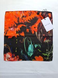 "Paul Smith Pocket Square ""New Masters"" Print 100% Silk"