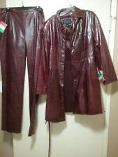 Wilson's Leather Coat And Pants, Beautiful Dark Burgundy Color.