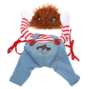Novelty Holding A Knife Pet Outfit Christmas Halloween Cat Dog Clothes (S)