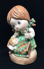 Mother and Baby FIGURINE Hand Painted Ceramic like Precious Moments JR 1982