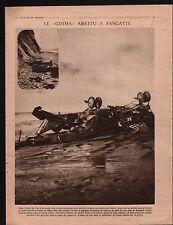 WWI Aircraft Gotha Sangatte/Ruine Fort de la Malmaison Zouaves 1917 ILLUSTRATION