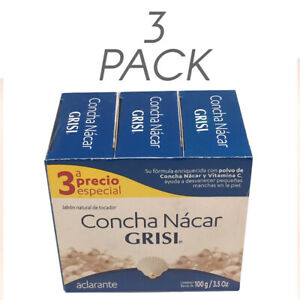 Grisi Mother of Pearl Soap. Concha Nacar Skin Lightening. 3.5 Oz (Each) Tripack