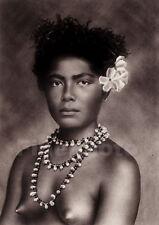 1925 Original SAMOA FEMALE NUDE Woman Breasts Jewelry ~ South Pacific Photo Art