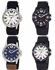 Ravel Men Sports Case Arabic Dial Black/Brown Nylon Strap Watch R1601.65.23 new