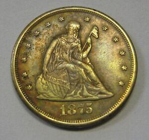 1875-CC Twenty Cent 20c Piece Grading XF Priced Right Shipped FREE G319
