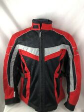 Olympia Moto Red Black Scotchlite Sports Jacket Motorcycle Safety Youth Xl CT