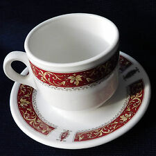 Coffee Cup and Saucer duo Steelite red Marina Royal Doulton replacement china