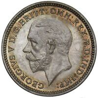 1927 PROOF THREEPENCE - GEORGE V BRITISH SILVER COIN - SUPERB